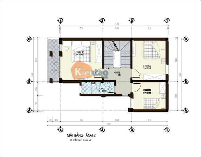 mẫu thiết kế biệt thự đẹp phong cách châu âu. 2
