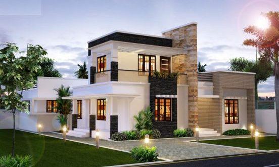 Mẫu thiết kế biệt thự mái bằng đẹp ấn tượng. 3