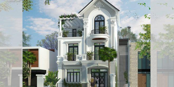 Mẫu thiết kế biệt thự mini 3 tầng - Phối cảnh