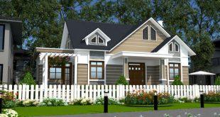 Mẫu thiết kế biet thự nhà vườn 1 tầng đẹp