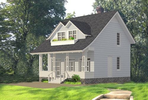 Mẫu thiết kế biệt thự nhà vườn 2 tầng - Phối cảnh
