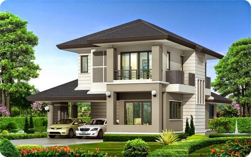 Mẫu thiết kế biệt thự nhà vườn 2 tầng 1