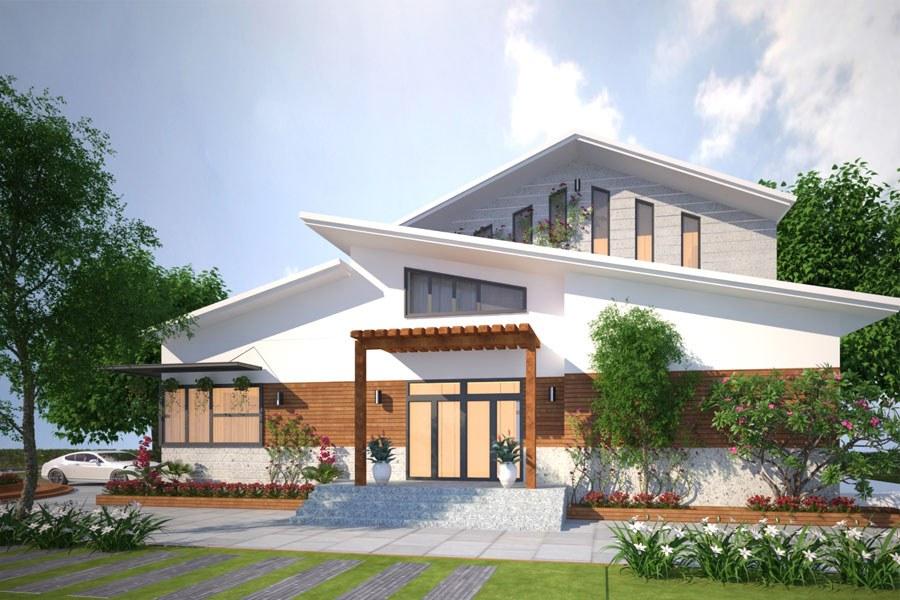 Mẫu thiết kế biệt thự nhà vườn 2 tầng 2