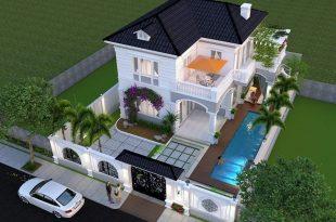 Mẫu thiết kế biệt thự nhà vườn 2 tầng 4
