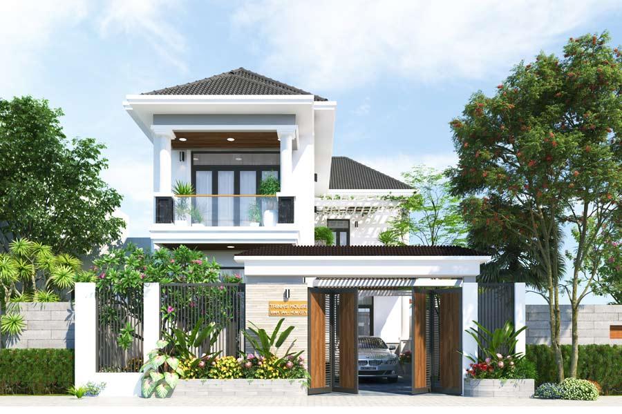 Mẫu thiết kế biệt thự nhà vườn 2 tầng 5