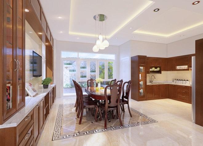 Mẫu thiết kế biệt thự nhà vườn 2 tầng - Phòng ăn