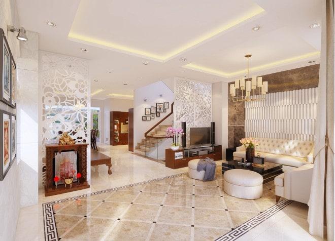 Mẫu thiết kế biệt thự nhà vườn 2 tầng - Phòng khách