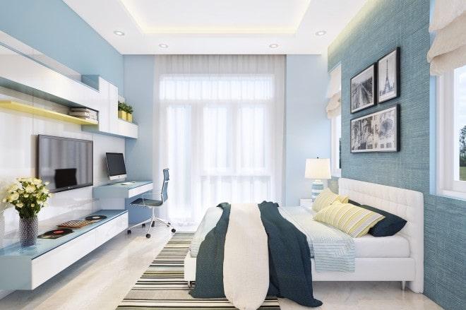 Mẫu thiết kế biệt thự nhà vườn 2 tầng - Phòng ngủ Master