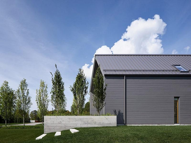 Mẫu thiết kế biệt thự vườn 1 tầng - Góc nhìn ngang