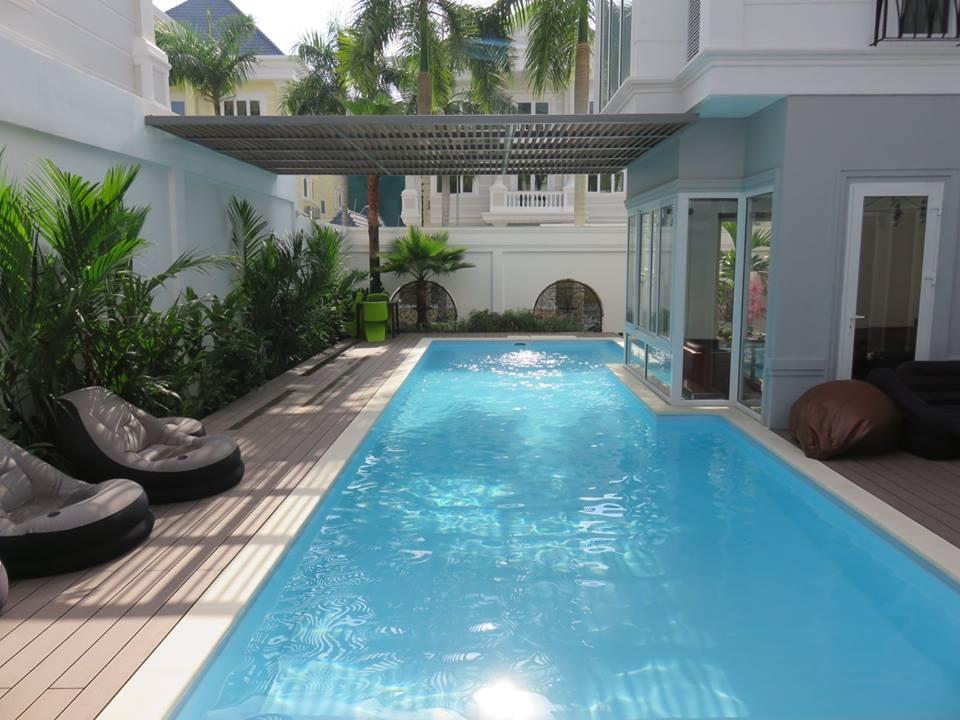 Mẫu thiết kế biệt thự vườn 2 tầng có hồ bơi