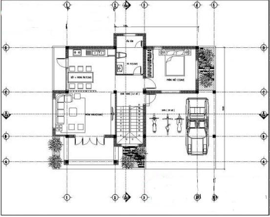 Mẫu thiết kế biệt thự vườn 2 tầng tại Thường Tín 100m2. 2