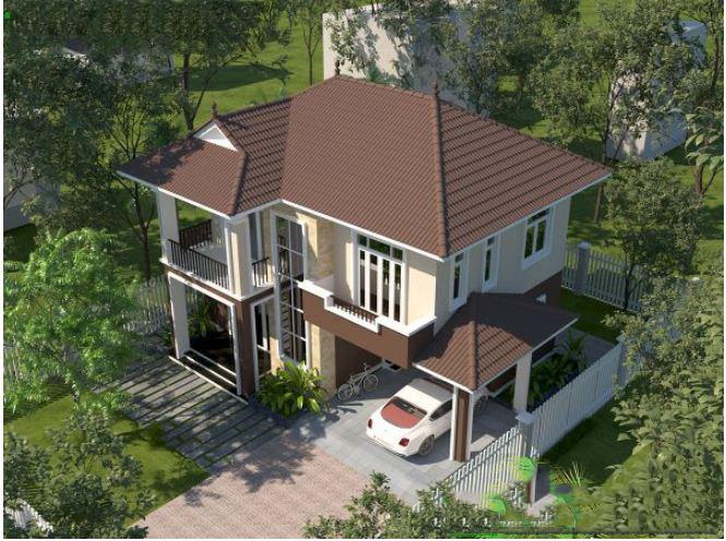 Mẫu thiết kế biệt thự vườn 2 tầng tại Thường Tín 100m2. 4