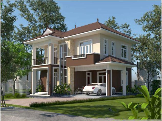 Mẫu thiết kế biệt thự vườn 2 tầng tại Thường Tín 100m2. 5