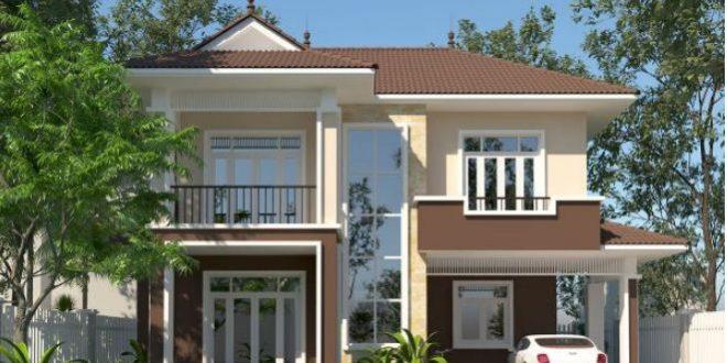 Mẫu thiết kế biệt thự vườn 2 tầng tại Thường Tín 100m2