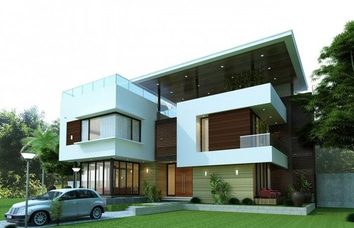 Mẫu thiết kế nhà biệt thự 2 tầng 8