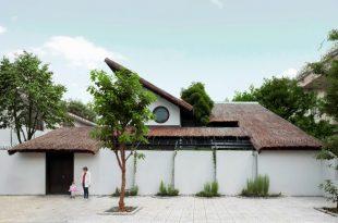 Biệt thự mái lá kiến trúc hiện đại 1