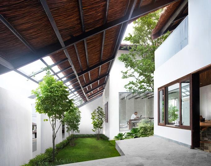 Biệt thự mái lá kiến trúc hiện đại 5
