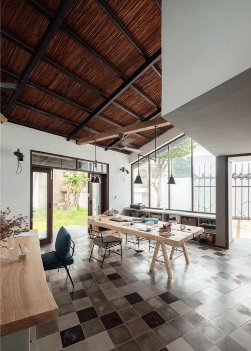 Biệt thự mái lá kiến trúc hiện đại 6
