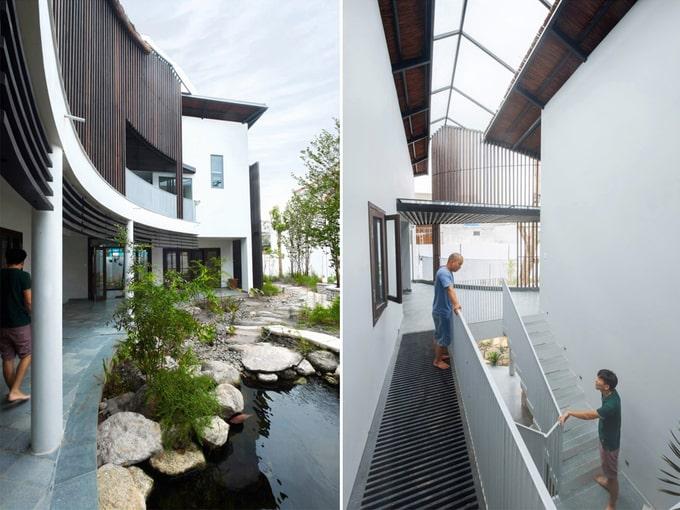 Biệt thự mái lá kiến trúc hiện đại 9