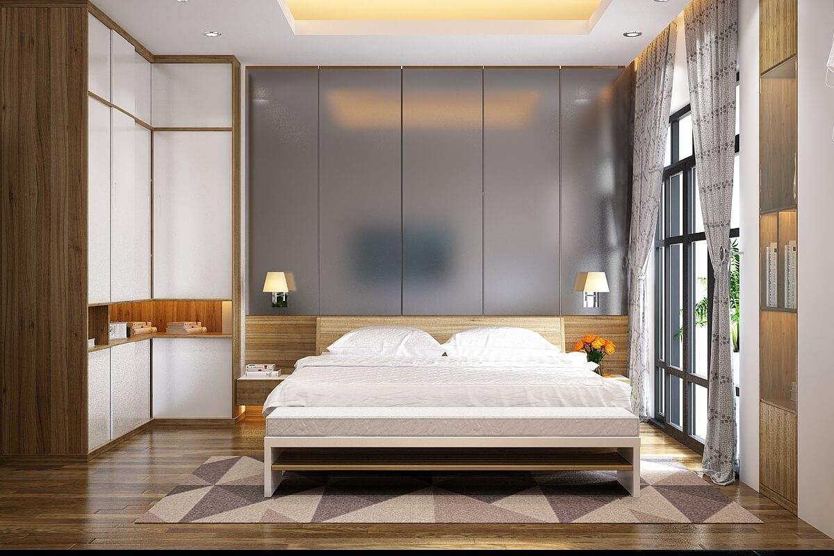 Thiết kế cửa sổ thoáng rộng đón ánh nắng - Nhà biệt thự 4 tầng 95m2