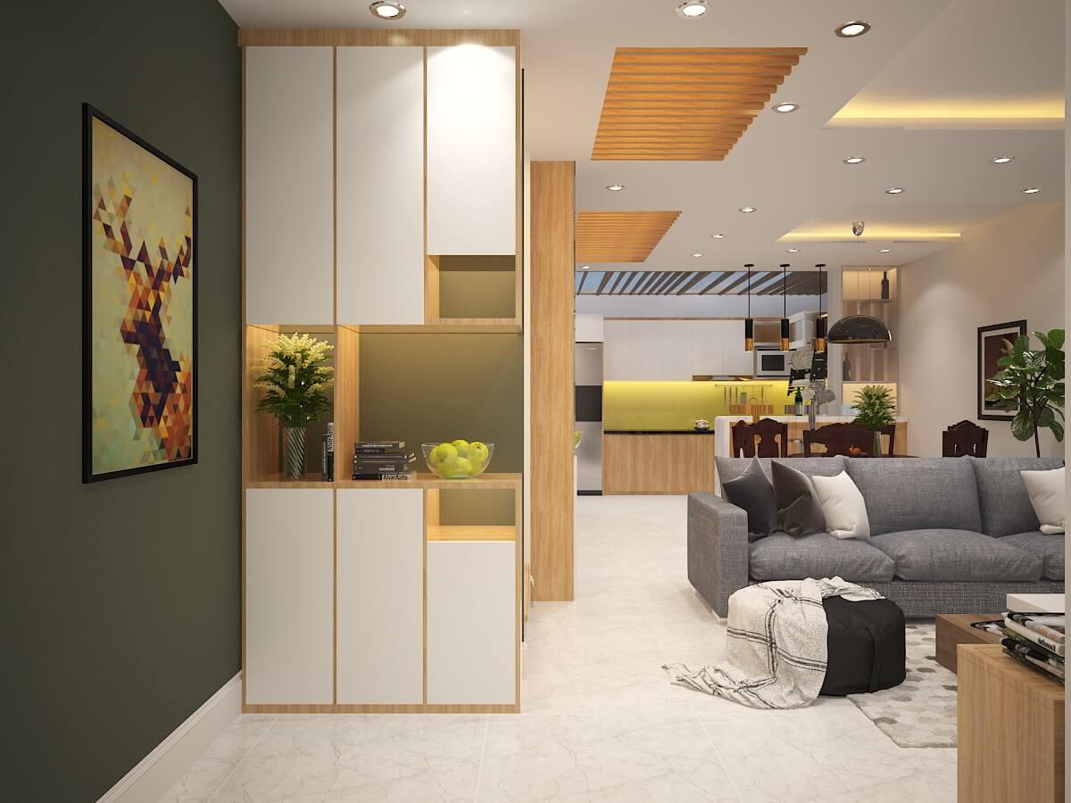 Thiết kế không gian mở - Nhà biệt thự 4 tầng 95m2