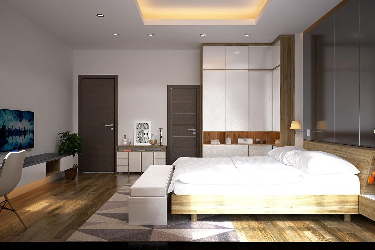 Phòng ngủ đẹp, tinh tế - Nhà biệt thự 4 tầng 95m2