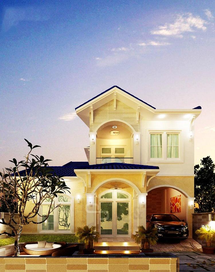 Mẫu thiết kế biệt thự đẹp 2 tầng 9x25m