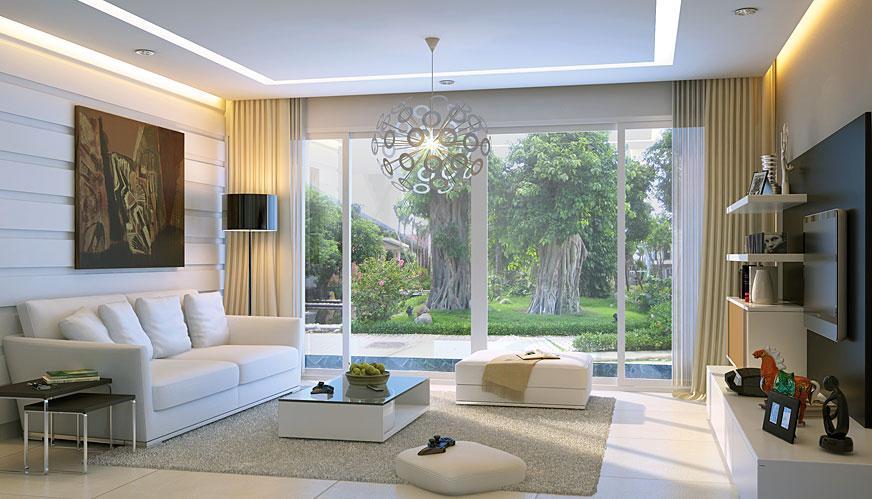 Phòng khách mẫu nhà vườn đẹp