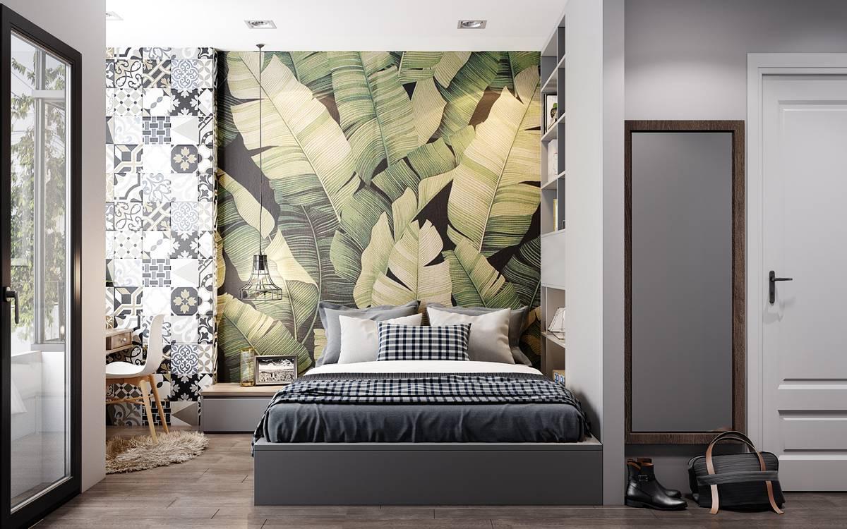 Thiết kế tường phòng ngủ biệt thự đẹp 2