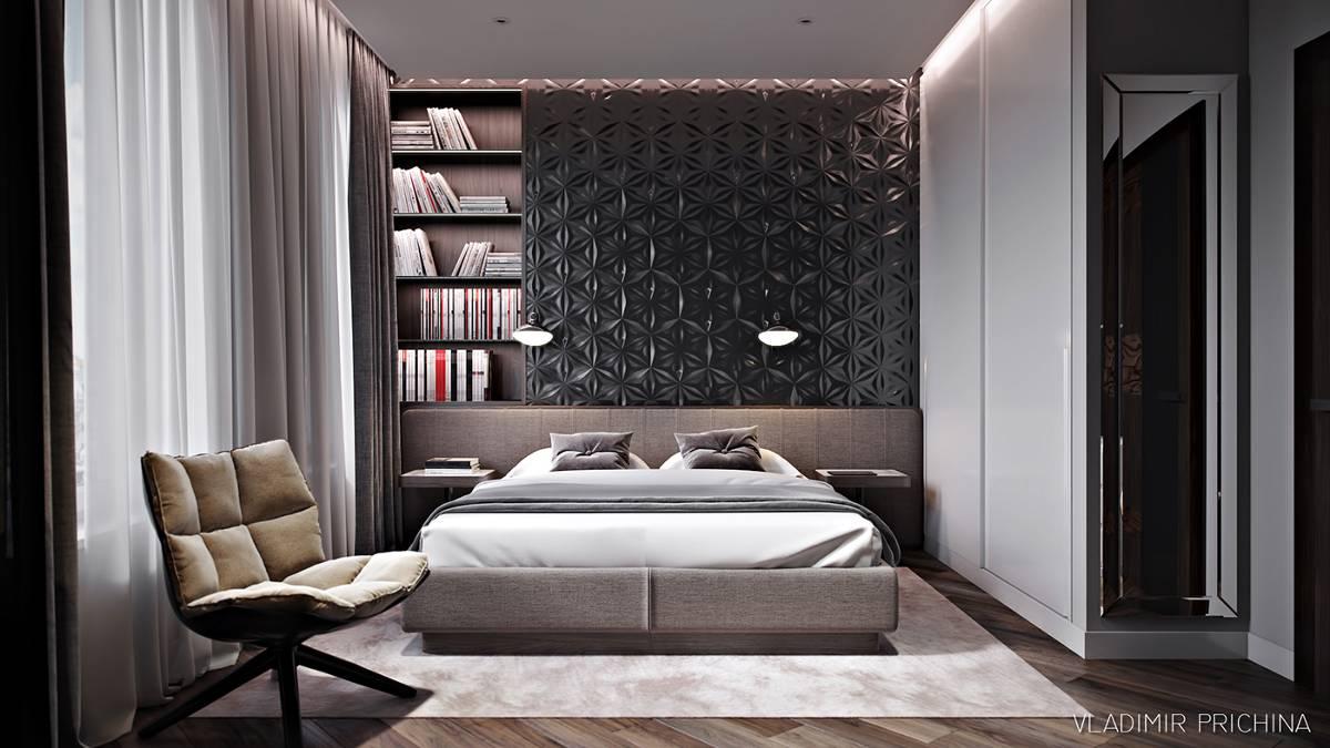 Thiết kế tường phòng ngủ biệt thự đẹp 6