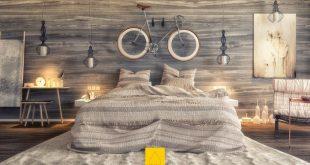 Phòng ngủ đẹp với gỗ cho mẫu nhà biệt thư 14