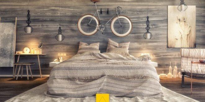 Phòng ngủ đẹp với gỗ cho mẫu nhà biệt thự 14