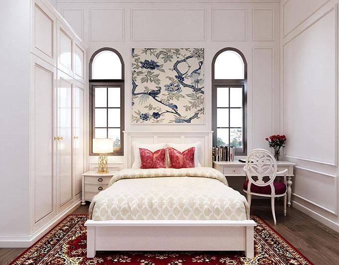 Phòng ngủ - Mẫu biệt thự tân cổ điển đẹp 3 tầng