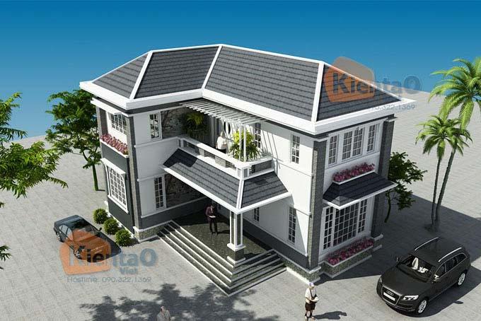 Nhà đẹp 2 tầng chữ L