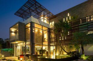 Thiết kế biệt thự 2 tầng đơn giản với nội thất gam trầm 1