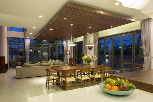 Thiết kế biệt thự 2 tầng đơn giản với nội thất gam trầm 3