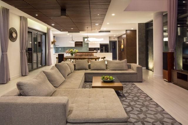 Thiết kế biệt thự 2 tầng đơn giản với nội thất gam trầm 4