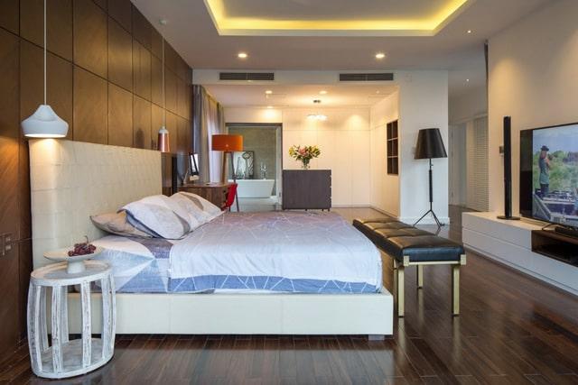 Thiết kế biệt thự 2 tầng đơn giản với nội thất gam trầm 6