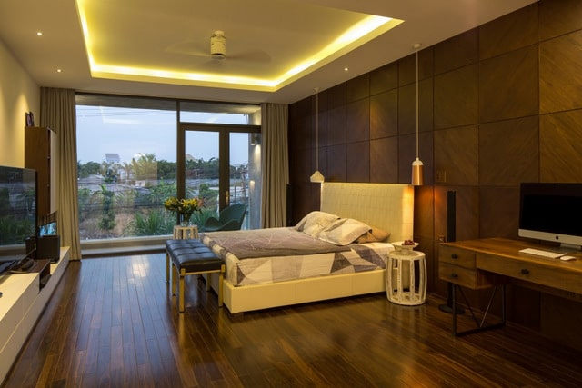 Thiết kế biệt thự 2 tầng đơn giản với nội thất gam trầm 7