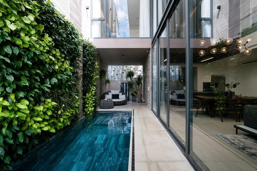 Mẫu thiết kế biệt thự 2 tầng khoảng xanh hoàn hảo 1
