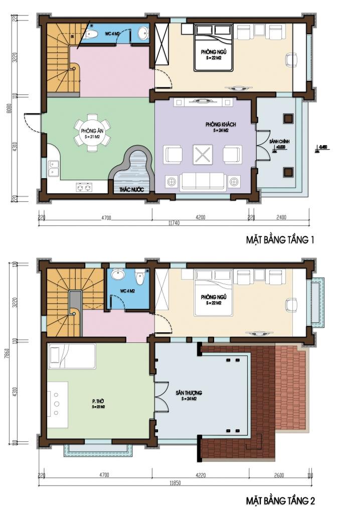 Công năng cho thiết kế biệt thự 2 tầng đẹp mini 8x12m đáng chú ý