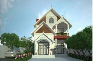Thiết kế biệt thự đẹp 2 tầng mái thái 8x15m