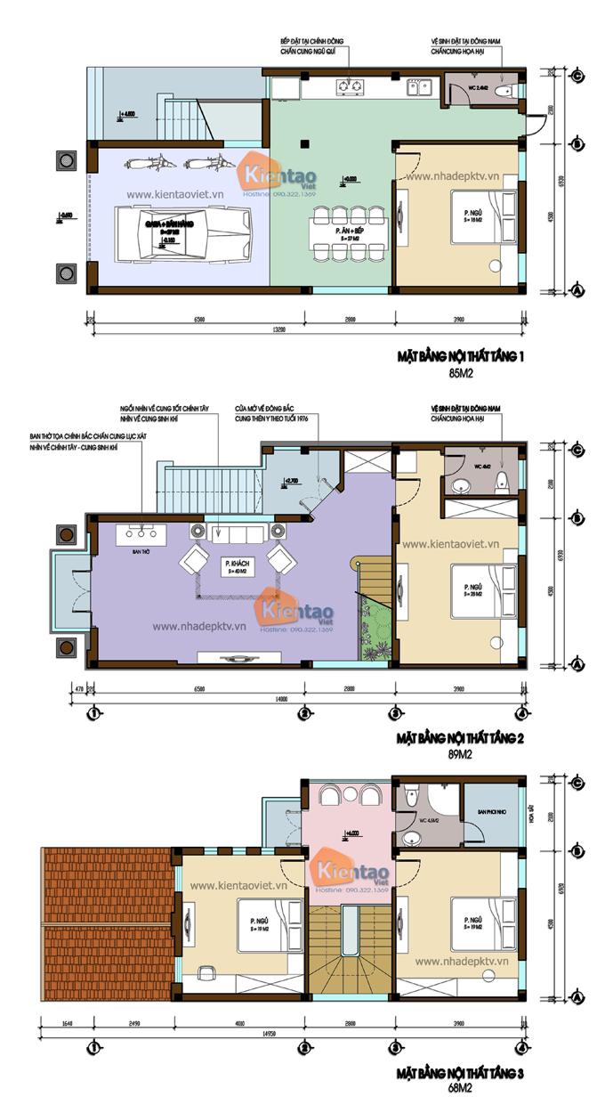 Thiết kế biệt thự đẹp 3 tầng hiện đại 7x20m. 1