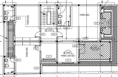 Thiết kế biệt thự đẹp 3 tầng mái thái 160m2. 2