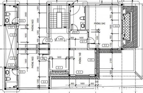 Thiết kế biệt thự đẹp 3 tầng mái thái 160m2. 3