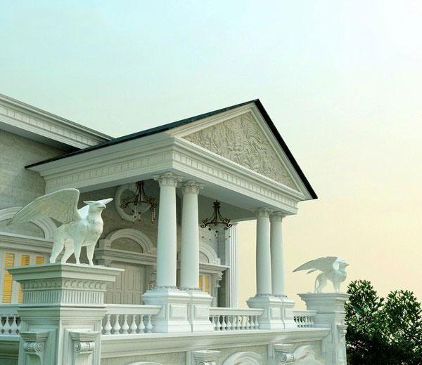 Phía trên sân thượng được thiết kế cầu kỳ - Thiết kế biệt thự đẹp cổ điểnPhía trên sân thượng được thiết kế cầu kỳ - Thiết kế biệt thự đẹp cổ điển