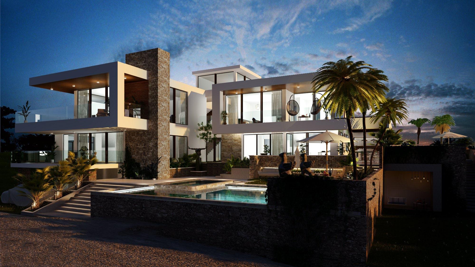 Thiết kế biệt thự đẹp có hồ bơi 6
