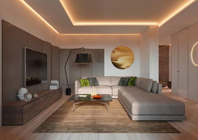 Thiết kế đèn âm tường cho nhà biệt thự 2
