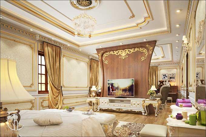 Thiết kế nội thất biệt thự tân cổ điển 1
