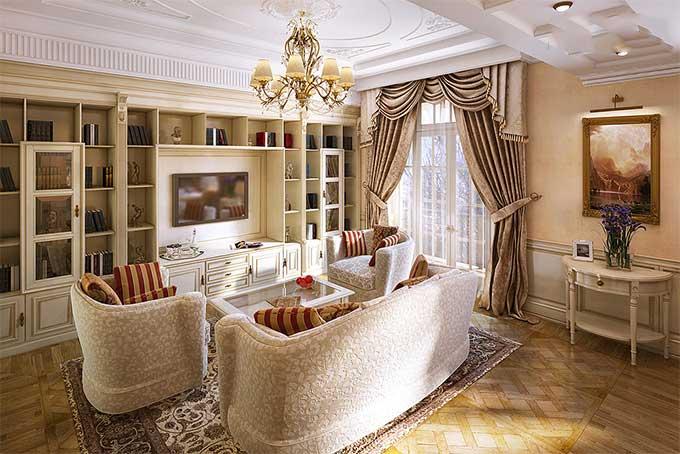Thiết kế nội thất biệt thự tân cổ điển 2